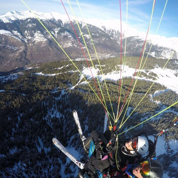 Paragliding Courchevel Choucard